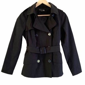 Forever 21 Navy Trench Raincoat, Small